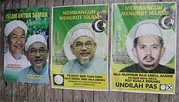 kuala berang by-election 270804 pas posters