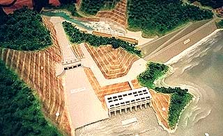 bakun dam scale model of completed project 301007