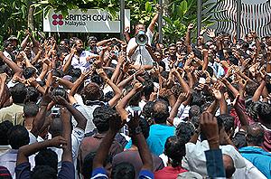 hindraf british petition rally 251107 uthayakumar maya hotel