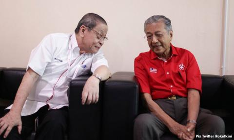 Image result for Mahathir and kit siang