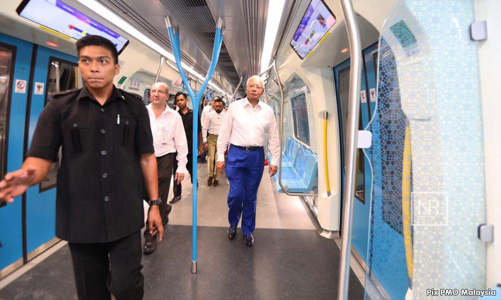 Najib: Bukan kontraktor kroni, MRT siap awal