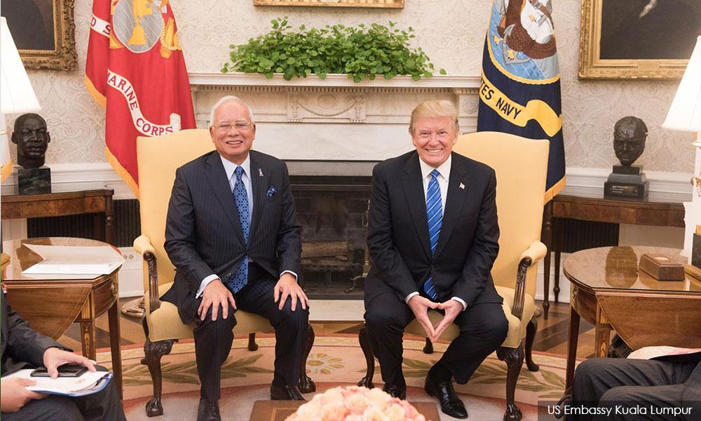 Image result for Najib and Trump in Washington DC