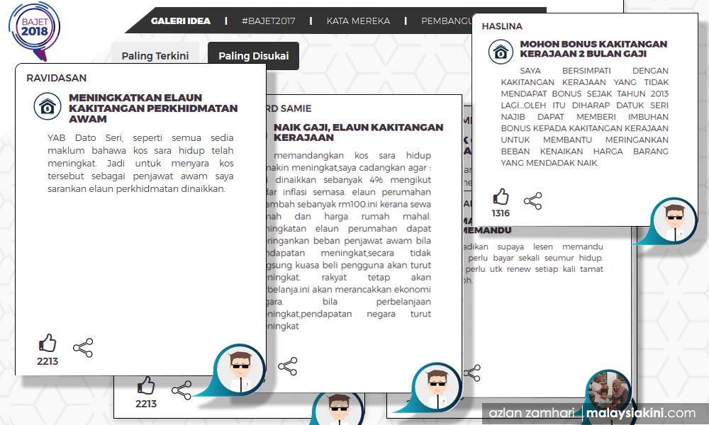 Malaysiakini Isu Gaji Penjawat Awam Terhangat Dalam Cadangan Bajet