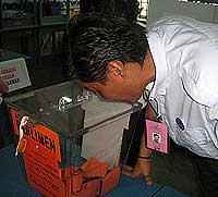 polling day 080308 ling hee leong observing ballot box