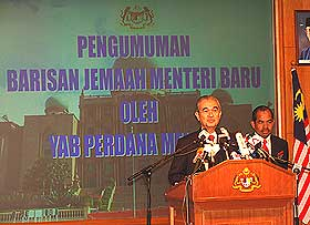 abdullah ahmad badawi 2008 cabinet line up 180308 07