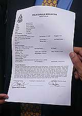 parliament bbc karpal singh police report 080508 03