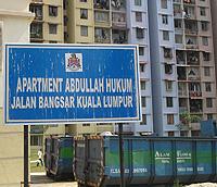 abdullah hukum apartment 240508 signboard