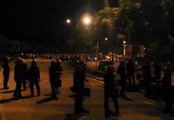 cheras mahkota road grand saga barricade 270508 stand off