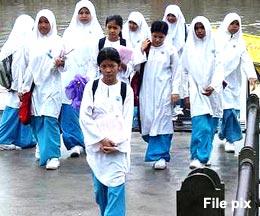 sekolah menengah high school girls uniform