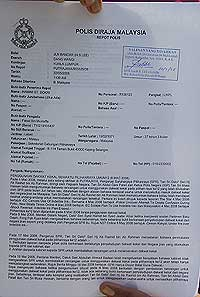 bersih police report indelible ink 220508 01