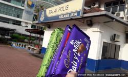 Sweet surprise for cops after Najib's 'chocolates' complaint