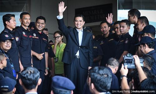 Azmin has left the building