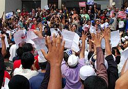 petrol price hike protest kg baru sogo 130608 july 5 gestures