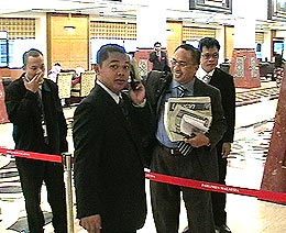 journalist media barred from parliament lobby area 240608 06