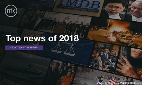 Top 10 news of 2018 - Malaysiakini readers' choice