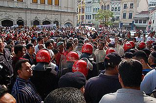 convertion forum protest 090807 big crowd