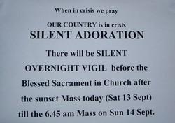 st francis xavier church silent vigil for teresa 140908 notice