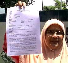dr mariah mahmud pas kota raja call for prayer azan khir toyo comments police report 110908 05
