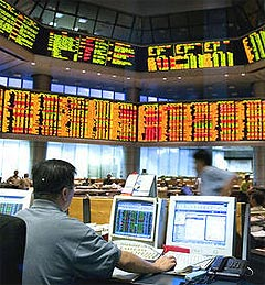 malaysia stock exchange market klse 141008 09