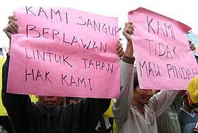 bengoh dam bidayuh protest sarawak 191208 02