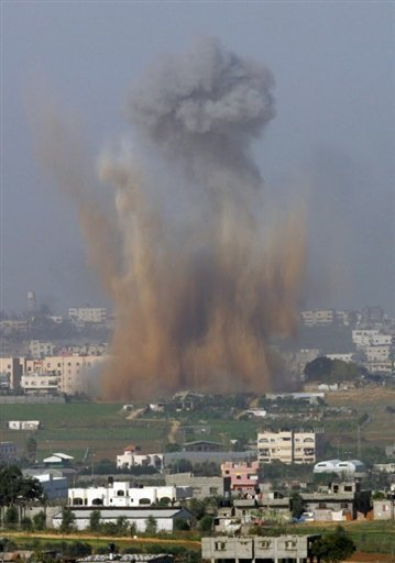 Isreal attack Hamas controlled Gaza Strip in Palestine