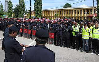 kuala terengganu by election nomination day 060109 police force