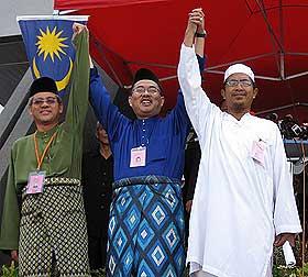 kuala terengganu by election nomination day 060109 candidates 2