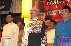 kuala terengganu by election bn launching machinery 050109 najib ahmad said wan farid