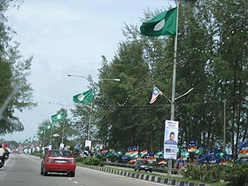 kuala terengganu by election 080109 street 2