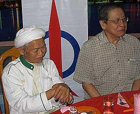 kuala terengganu by election dap dinner 140109 nik aziz and lim kit siang