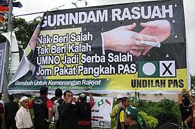kuala terengganu by election dispute over poster 140109 01