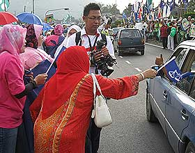 kuala terengganu by election voting day 170109 puteri campaign