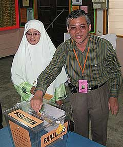 kuala terengganu by election voting day 170109 wahid voting