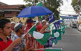 kuala terengganu by election 170109 polling day outside school 02