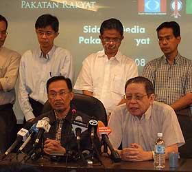 pakatan rakyat pc perak situation 060209 anwar ibrahim lim kit siang