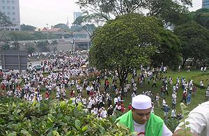 anti ppsmi rally 070209 climbing to palace