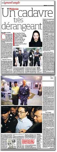altantuya murder case publish on french newspaper la liberation 050309