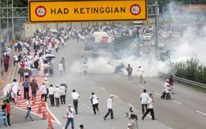 anti ppsmi rally 070209 tear-gas