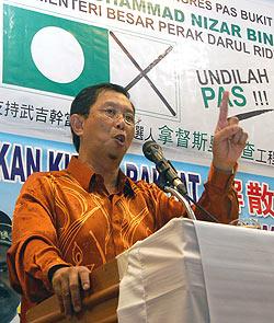 bukit gantang by election 280309 nizar talking