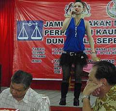 bukit gantang by election zahid hamidi dinner with hot girls performance 020409 04