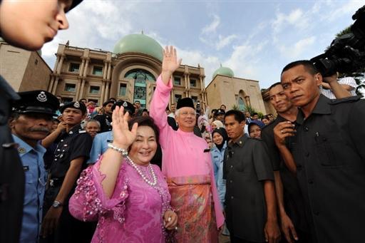 Last day of Abdullah Ahmad Badawi. Najib Abdul Razak takes over as prime minister in Putrajaya