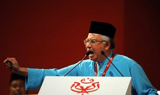 Najib Abdul Razak at Umno annual general assembly