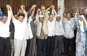gantang by election 070409 pas nizar win result announce 03