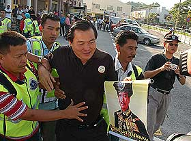 perak state assembly police blockade and arrest of opposition mps and ngo reps 070509 21