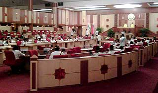 perak state assembly chaos in the assmbly between speakers and state reps 070509 05