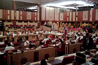 perak state assembly chaos in the assmbly between speakers and state reps 070509 03