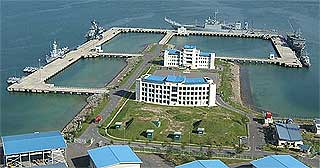 sepangar bay malaysia navy scorpene submarine port facility 140509 01
