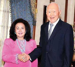 rosmah mansur and lee kuan yew 160609