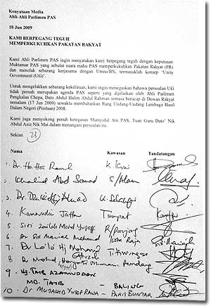 pas parliament members support for nik aziz 180609
