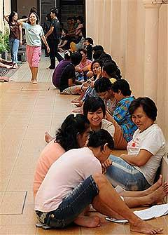 Indonesian domestic helpers maids